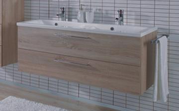 Puris Fresh Badmöbel Doppelwaschtischunterschrank für Keramik 120 cm