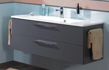 Puris Fresh Badmöbel Waschtischunterschrank für Mineralmarmor 120 cm