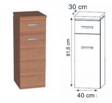 Puris Fresh Highboard | Wäschekippe 40 cm