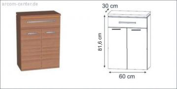 Puris Fresh Highboard | Wäschekippe 60 cm