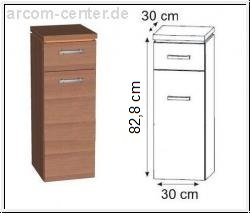 Puris Kera Trends Highboard mit Wäschekippe 30 cm