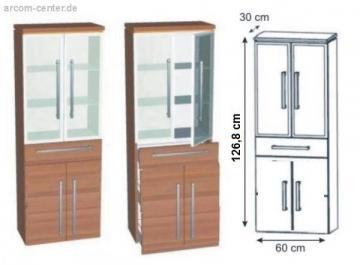Puris Kera Trends Hochschrank mit Wäschekippe Alu 60 cm