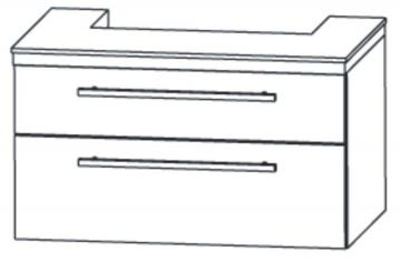 Puris Kera Trends WT-Unterschrank 75 cm [ Keramag Renova | Nr.1 Plan 550 ]