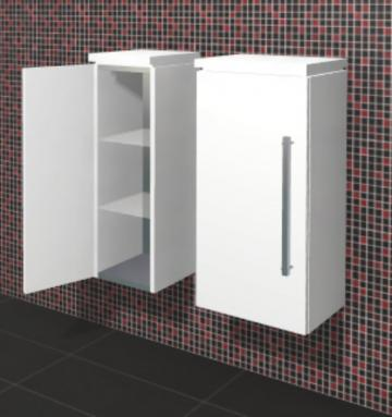 Puris Linea Badmöbel Highboard 40 cm | 1 Tür