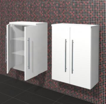 Puris Linea Badmöbel Highboard 60 cm | 2 Türen