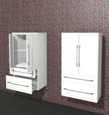 Puris Linea Badmöbel Mittelschrank 60 cm | 2 Türen + 2 Auszüge