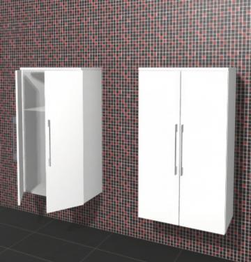 Puris Linea Badmöbel Mittelschrank 60 cm | 2 Türen