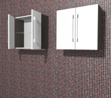 Puris Linea Badmöbel Oberschrank 60 cm | 2 Türen