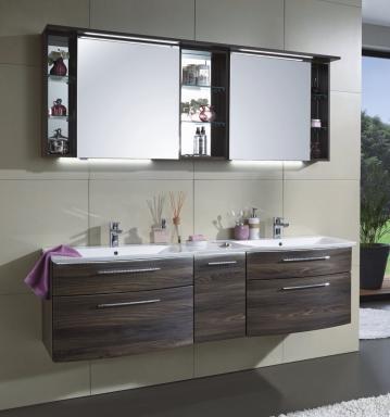 Badezimmermöbel doppelwaschbecken  PURIS LINEA Doppelwaschtisch Badmöbel Günstig - Arcom Center