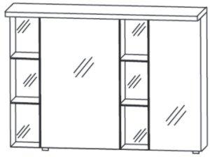 Puris Linea Spiegelschrank A 100 cm Rechts