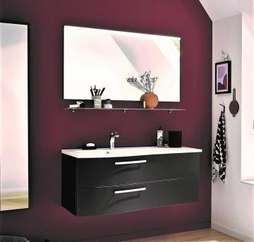 Puris Purefaction Badmöbel Set B 120 cm | Spiegel | Ablage rechts
