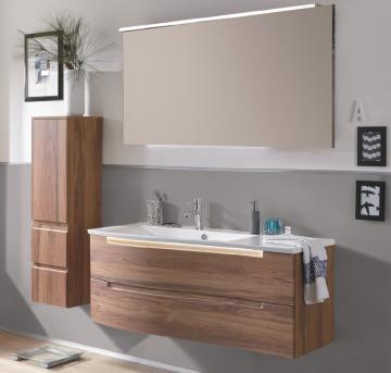 Puris Purefaction Badmöbel Set D 120 cm | 2 Auszüge | Ablage rechts