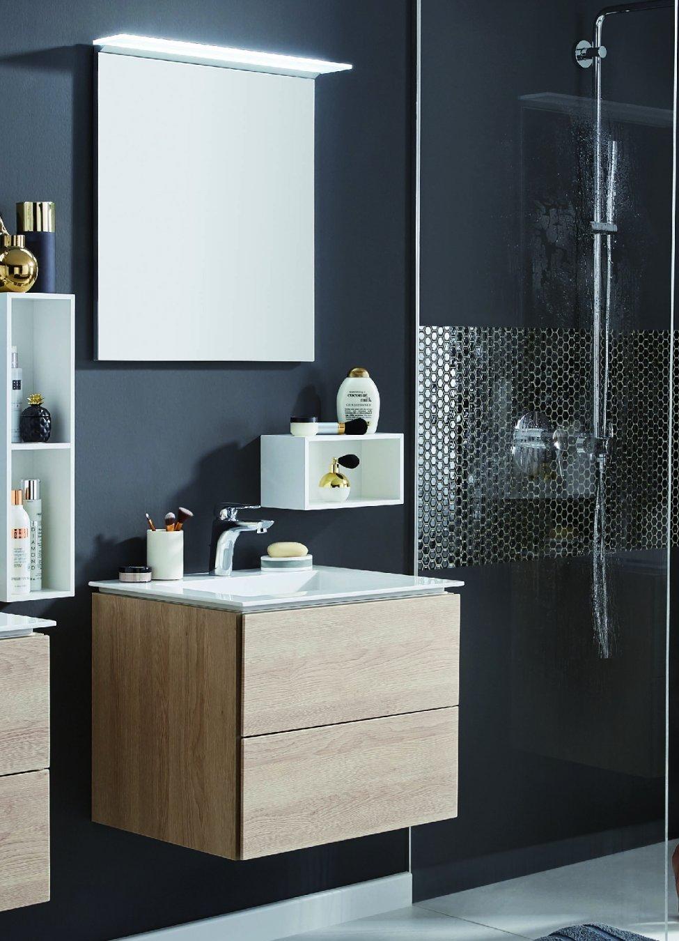 puris slim line 60 cm badm bel set. Black Bedroom Furniture Sets. Home Design Ideas