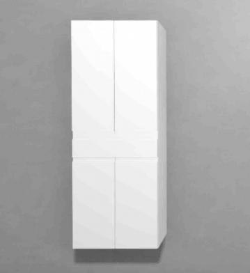 Puris Slim Line Badmöbel Hochschrank 60 cm