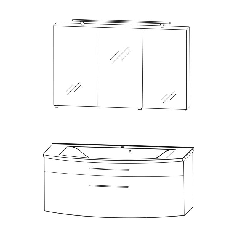 puris speed set c 120 cm badm bel. Black Bedroom Furniture Sets. Home Design Ideas