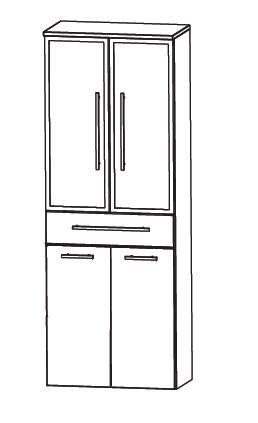 puris speed hochschrank badschrank modern arcom center. Black Bedroom Furniture Sets. Home Design Ideas
