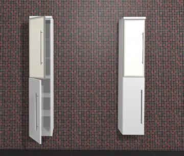 Puris Kao Line Badmöbel Hochschrank + Glastür 30 cm | Maßvariabel