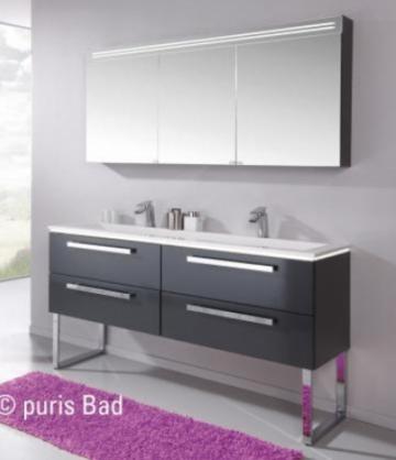 Puris Star Line Set I 120 cm | Spiegelschrank | 4 Auszüge