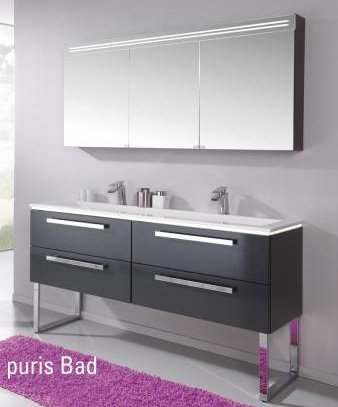 Puris Star Line Set V 160 cm | Spiegelschrank