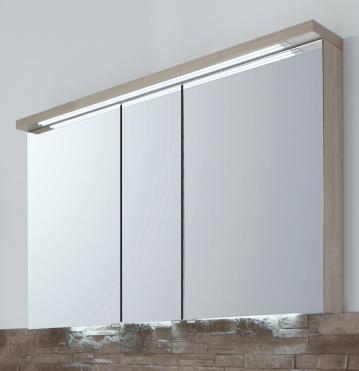 Puris Star Line Spiegelschrank + Gesimsboden 120 cm
