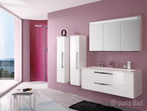 puris star line spiegelschrank 140 cm badm bel arcom. Black Bedroom Furniture Sets. Home Design Ideas