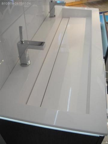Puris Star Line Waschtisch 120 cm | Stoneplus | 2 Armaturen | Serie A