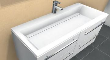 Puris Star Line Waschtisch 90 cm | Mineralguß + Stone Plus | Serie A