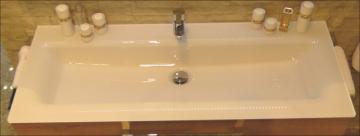 Puris Star Line Waschtisch Glas + 1 Armatur 140 cm