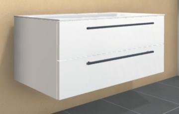 Puris Star Line Waschtischunterschrank 140 cm | für Mineralguß Becken (Stoneplus & Evermite) | 2 Auszüge