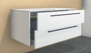 Puris Star Line Waschtischunterschrank 120 cm | für Glasbecken | 2 Auszüge