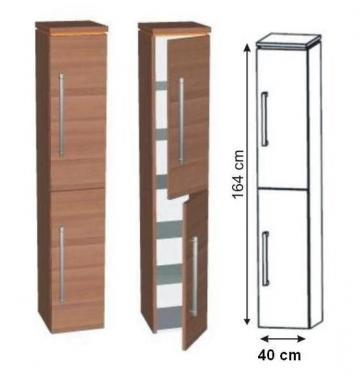 Puris Swing Hochschrank 40 cm Tiefenvariabel