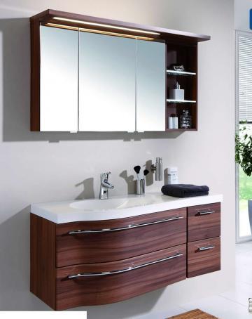 Puris Swing Set I 120 cm | Spiegelschrank Offen | Ablage rechts