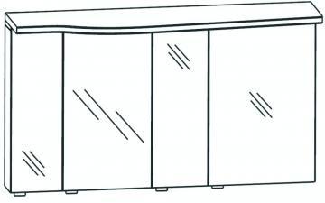 Puris Swing Spiegelschrank rechts 140 cm Serie B