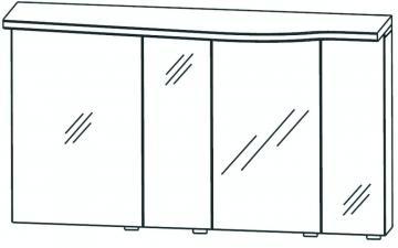 Puris Swing Spiegelschrank links 140 cm Serie B