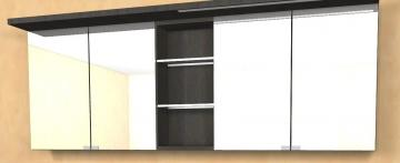 Puris Swing Spiegelschrank + Regal 180 cm Serie A