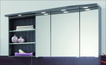 Puris Swing Spiegelschrank + Regal links 140 cm Serie B