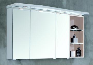 Puris Swing Spiegelschrank + Regal rechts 120 cm Serie B