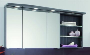 Puris Swing Spiegelschrank + Regal rechts 140 cm Serie B