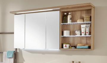 Puris Swing Spiegelschrank + Regal rechts 140 cm Serie A