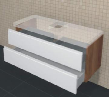 Puris Unique Badmöbel 102 cm | Waschtischunterschrank