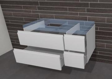 Puris Unique Badmöbel 102 cm | Waschtischunterschrank Ablage Rechts
