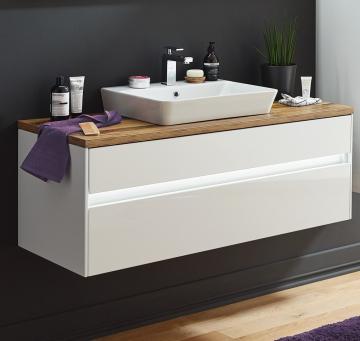 Puris Unique Badmöbel 122 cm | Waschtisch mit Unterschrank