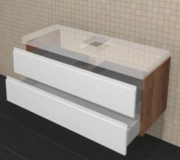 Puris Unique Badmöbel 122 cm | Waschtischunterschrank