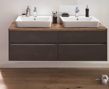 Puris Unique Badmöbel 142 cm | Waschtisch mit Unterschrank Set B