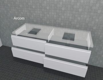 Puris Unique Badmöbel 142 cm | Waschtischunterschrank