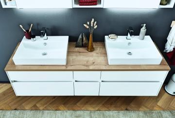 Puris Unique Badmöbel 172 cm | Waschtisch mit Unterschrank Set B