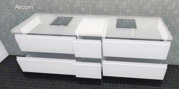 Puris Unique Badmöbel 172 cm | Waschtischunterschrank