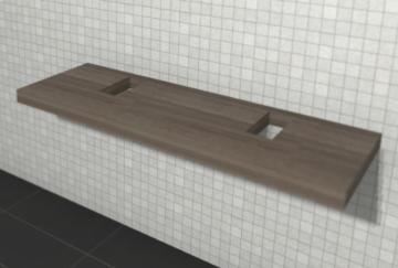 Puris Variado 2.0 Waschtischplatte 140 cm | Becken Links und Rechts