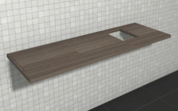 Puris Variado 2.0 Waschtischplatte 140 cm | Becken Rechts