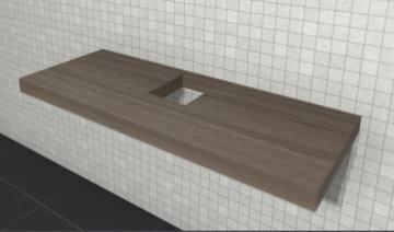 Puris Variado 2.0 Waschtischplatte 130 cm | Becken Mitte